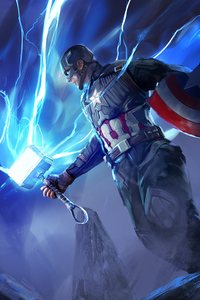 640x960 New Captain America Avengers Endgame