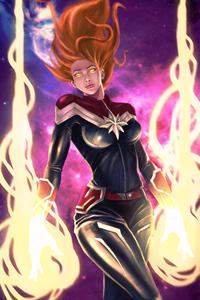 New Captain Marvel Arts