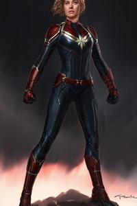 2160x3840 New Captain Marvel Concept Art