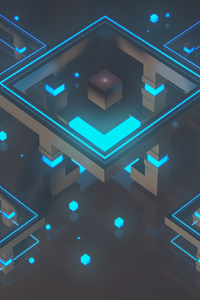 1440x2960 New Generation Of Shapes 4k