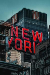 750x1334 New York Logo Glowing 4k