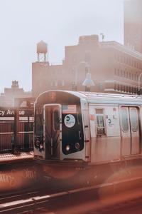 640x960 New York Subway Train 4k