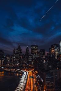 Newyork Night Buildings 4k