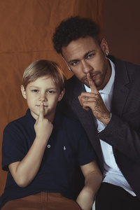 Neymar With His Son