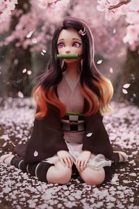 Nezuko Kimetsu No Yaiba Fanart 4k