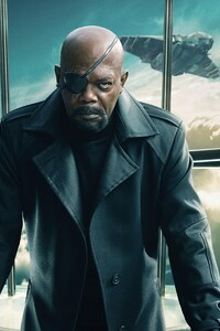 1125x2436 Nick Fury Captain America The Winter Soldier