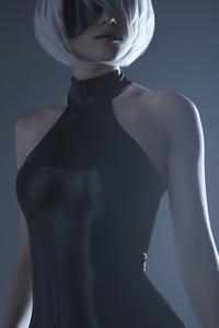 720x1280 Nier Automata Short Hair Cosplay 4k