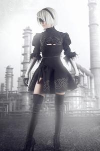 1440x2560 Nierautomata Cosplay Girl 4k