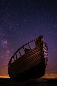 Night Boat Sky Stars 5k