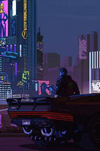 640x1136 Night City Boy Cyberpunk 2077 4k