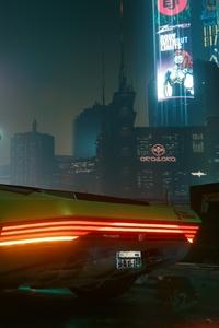 1125x2436 Night City Cybepunk 2077 Car