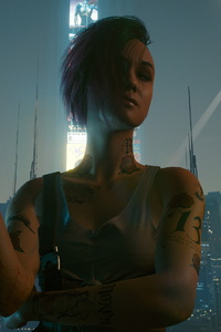 Night City Girl Cybepunk 2077