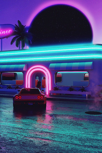 Night Dinner Retrowave 5k