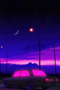 Night Drive Synthwave 4k