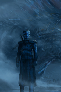 Night King Blue Eyes White Dragon