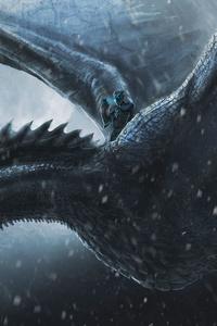 1440x2960 Night King Dragon 4k