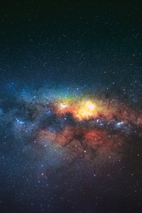 320x568 Night Sky Stars Galaxy