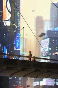 800x1280 Night Time Scifi Science Fiction 5k