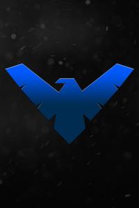1080x1920 Night Wing Logo 5k