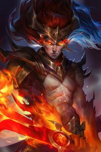 480x800 Nightbringer Yasuo League Of Legends Fan Art 4k