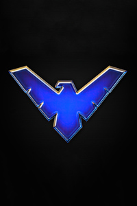 1080x2160 Nightwing Big Logo 4k