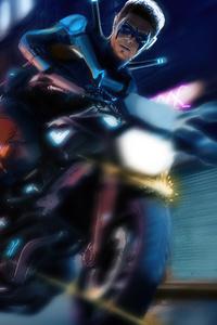 Nightwing Bike 4k
