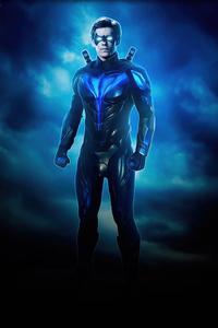 720x1280 Nightwing Blue Suit 4k