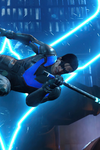 Nightwing Gotham Knights Logo 4k