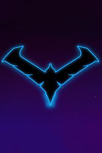 Nightwing Gotham Knights Minimal Logo 4k