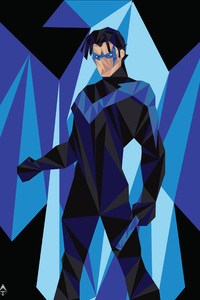 Nightwing Low Poly Art