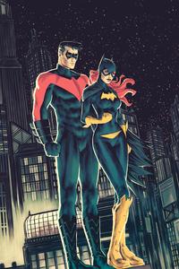 Nightwing With Batgirl 4k