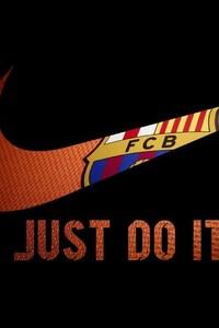 1080x2280 Nike FCB Logo