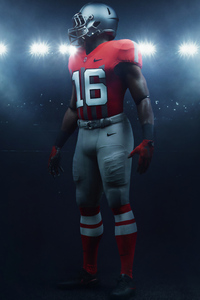 750x1334 Nike Football Player