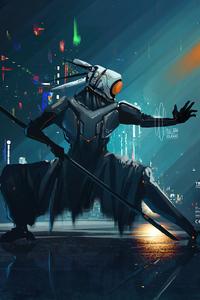 480x854 Ninja Cyber Punk 5k