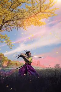 800x1280 Ninja Girl With Sword