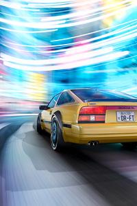 Nissan 300 Zx In Motion Blur 4k