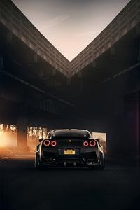 320x568 Nissan Gt R Black
