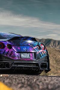 480x854 Nissan Gtr 2020 Rear