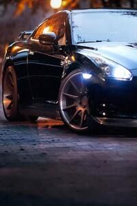 1080x2160 Nissan GTR Black 2