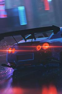1280x2120 Nissan Gtr Must Go Faster 5k