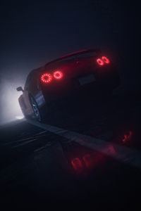 1242x2688 Nissan Gtr Rear Lights 4k