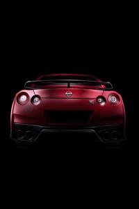 640x960 Nissan Gtr Red 5k
