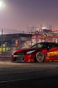 320x568 Nissan Gtr Red
