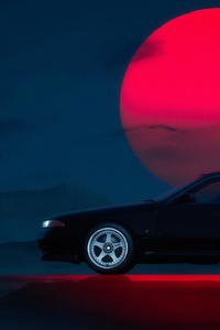 240x400 Nissan Skyline GT R 32 4k