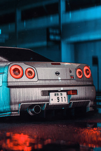 1280x2120 Nissan Skyline GT R R34 Need For Speed 4k