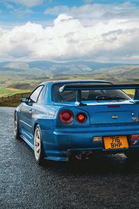1080x1920 Nissan Skyline Gtr R34
