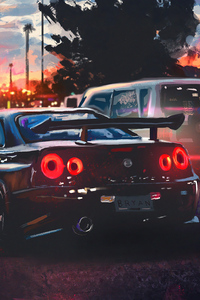 Nissan Skyline Painting Art 4k