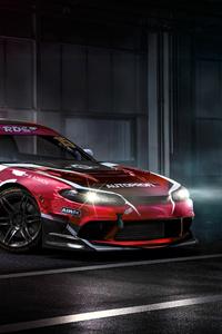 480x800 Nissan Sports Car 4k