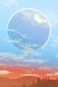 No Mans Sky Big And Small Moon 4k