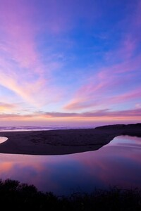 240x320 North Salmon Creek Beach Reflection